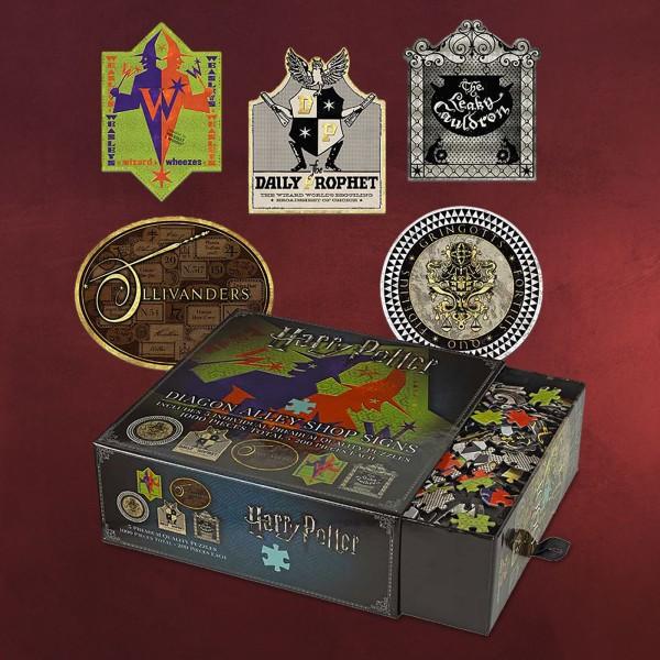 Harry Potter - Winkelgasse Schilder Premium Puzzle Set