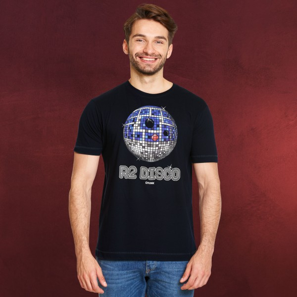 Droid Disco T-Shirt für Star Wars Fans blau