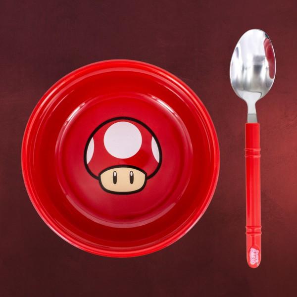 Super Mario - Super-Pilz Frühstücksset