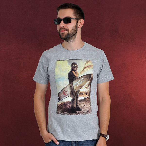 Star Wars - Wookiee Surfer T-Shirt grau