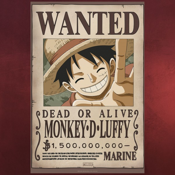 One Piece - Wanted Monkey D. Luffy Maxi Poster