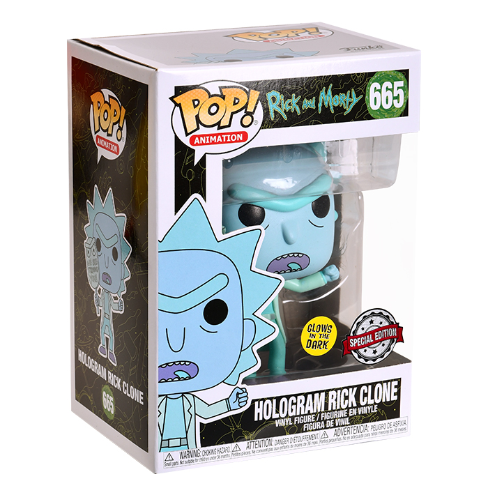 Rick and Morty - Rick Glow in the Dark Funko Pop Figur