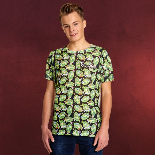 Rick and Morty - Portal Invasion T-Shirt