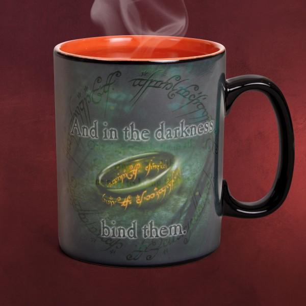Herr der Ringe - Saurons Ring Thermoeffekt Tasse