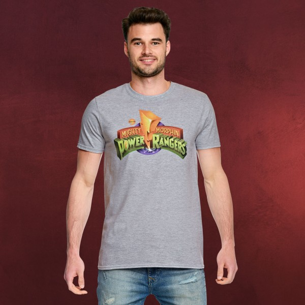 Power Rangers - Logo T-Shirt grau