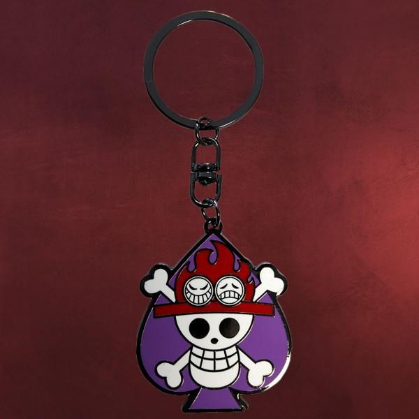 One Piece - Skull Ace Schlüsselanhänger