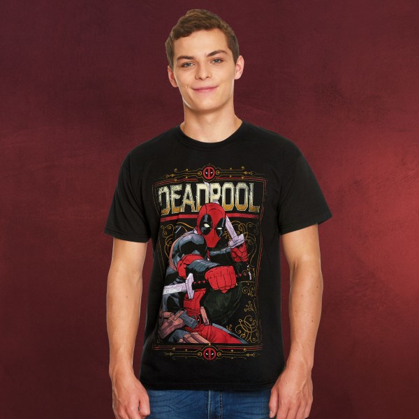 Deadpool - Ready to Fight T-Shirt schwarz