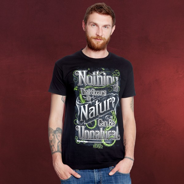 Phantastische Tierwesen - Nature T-Shirt schwarz