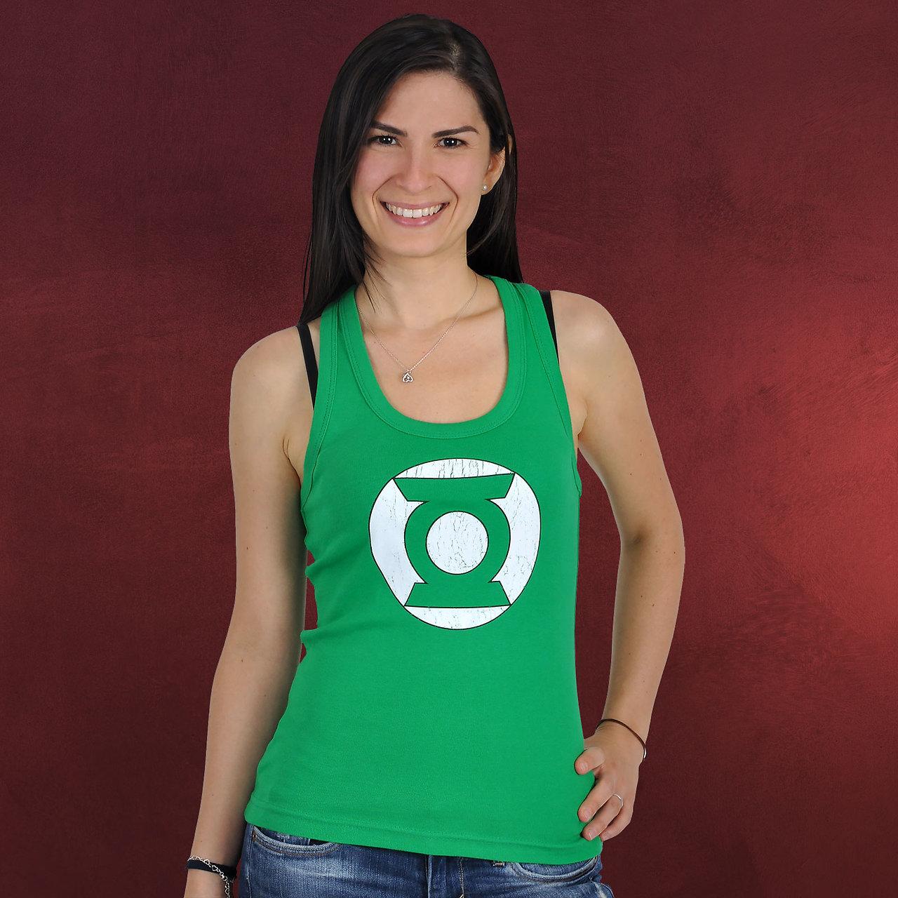 Green Lantern Logo Tank Top Comic Fashion Elbenwald