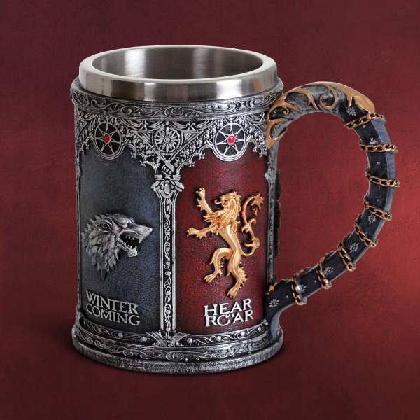 Game of Thrones - Königshäuser Wappen Krug deluxe