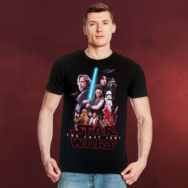 Star Wars - The Last Jedi Collage T-Shirt schwarz