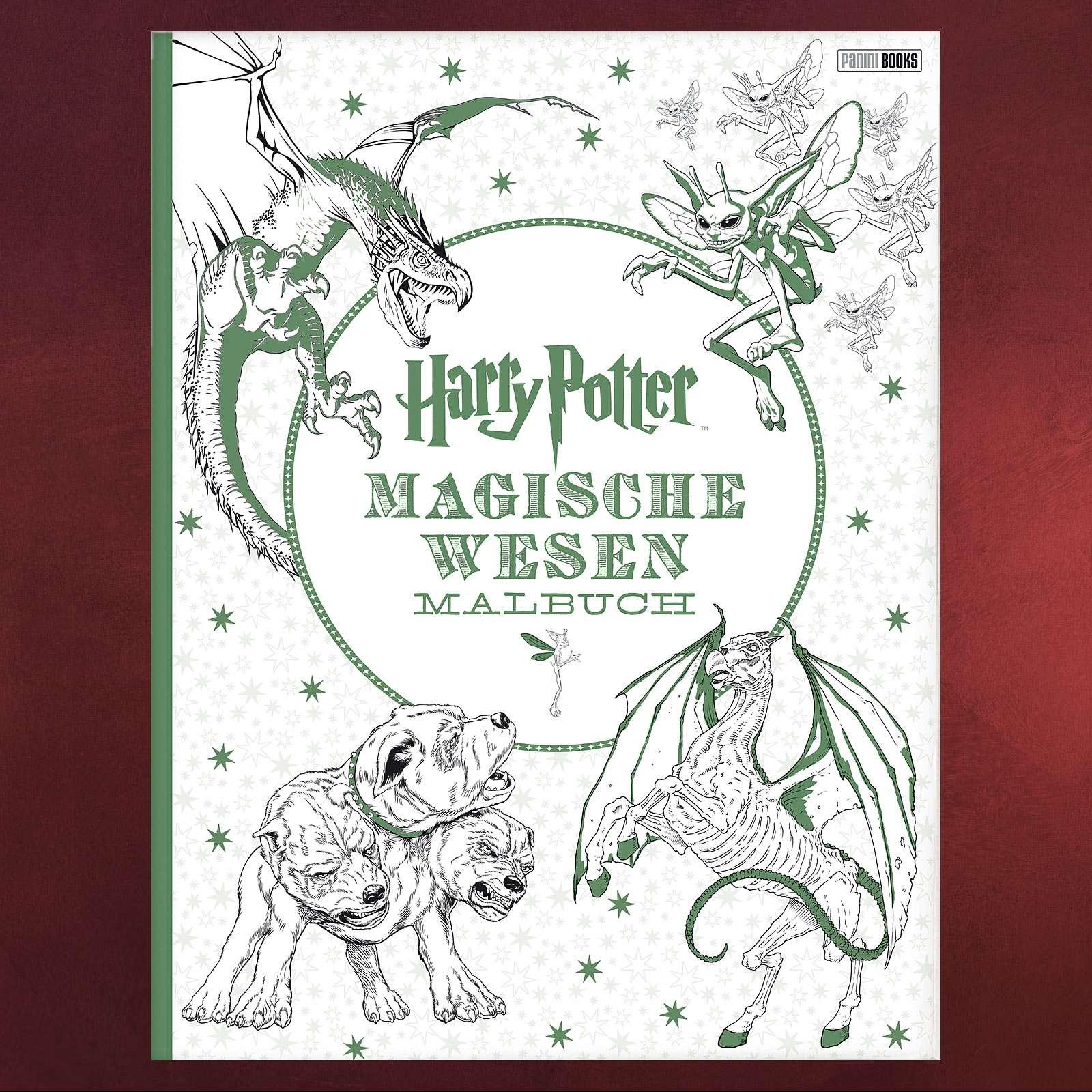 Harry Potter - Magische Wesen Malbuch   Elbenwald