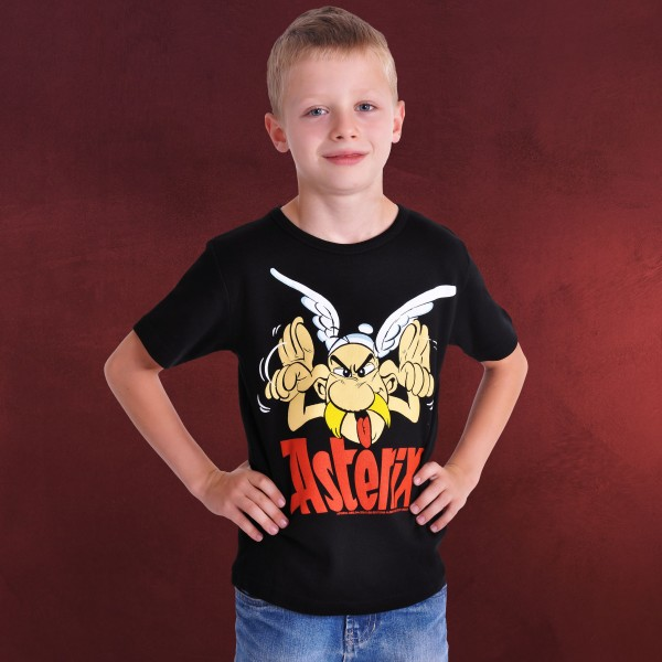 Asterix - Grimace Kinder T-Shirt schwarz