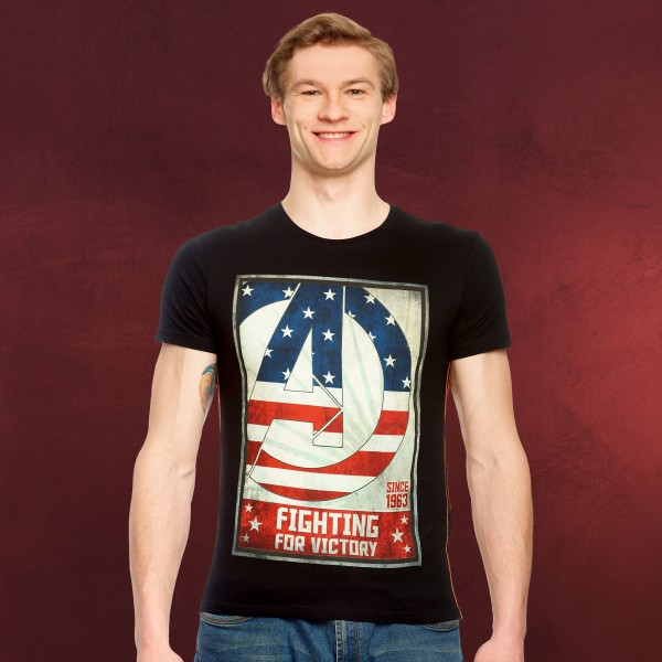Avengers - Fighting for Victory T-Shirt schwarz