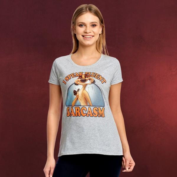 König der Löwen - Timon Sarkasmus T-Shirt Damen grau