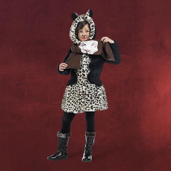 Leoparden Mantel und Schal Kinderkostüm