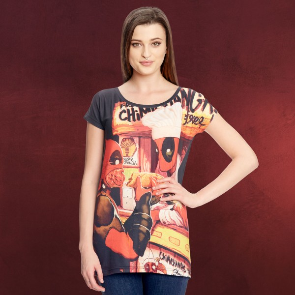 Deadpool - Chimichanga Girlie Shirt Loose Fit schwarz