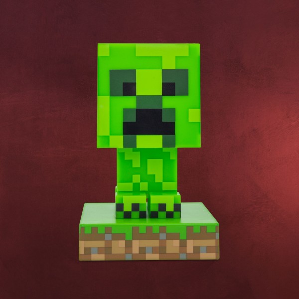 Minecraft - Creeper Icons 3D Tischlampe