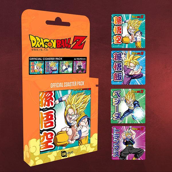 Dragon Ball Z - Mix Untersetzer 4er Set