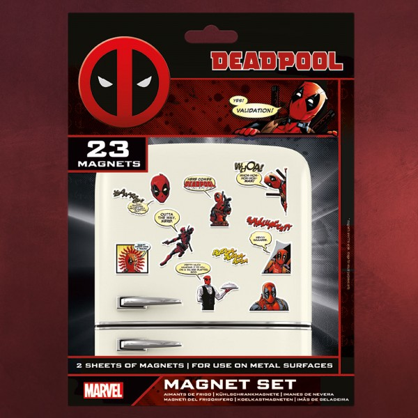 Deadpool - Comic Magnet-Set