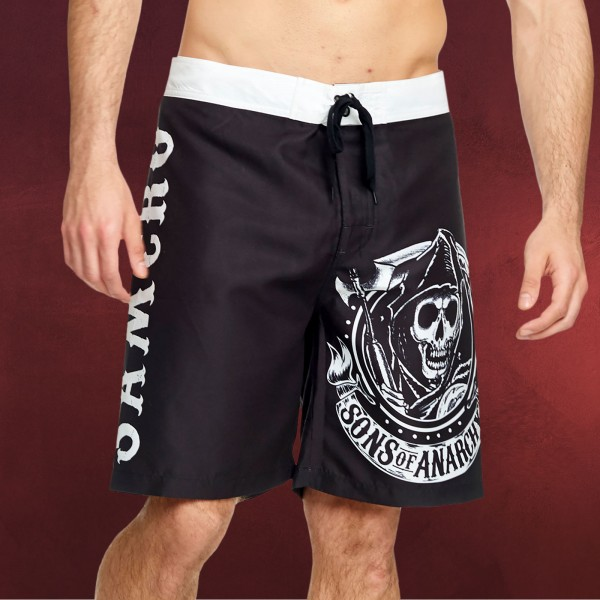 Sons of Anarchy - Reaper Logo Badeshorts schwarz