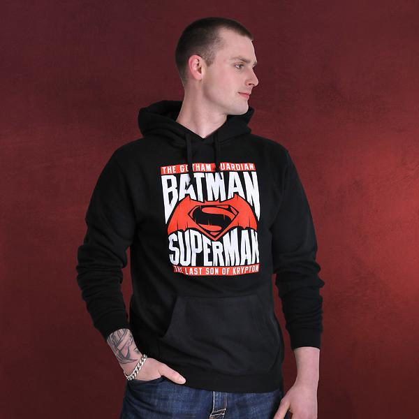 Batman v Superman - Heroes Hoodie schwarz