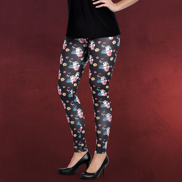 Bambi - Klopfer Flower Power Leggings schwarz