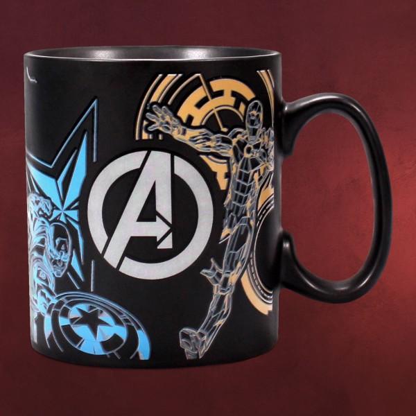 Avengers - Heroes Thermoeffekt Tasse