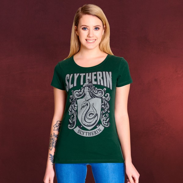 Harry Potter - Slytherin Wappen T-Shirt Damen grün