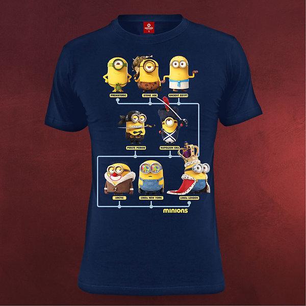 Minions - Through the Ages T-Shirt blau