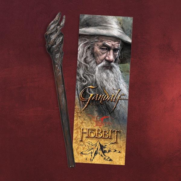 Der Hobbit - Gandalfs Stab - Stift mit 3D Lesezeichen