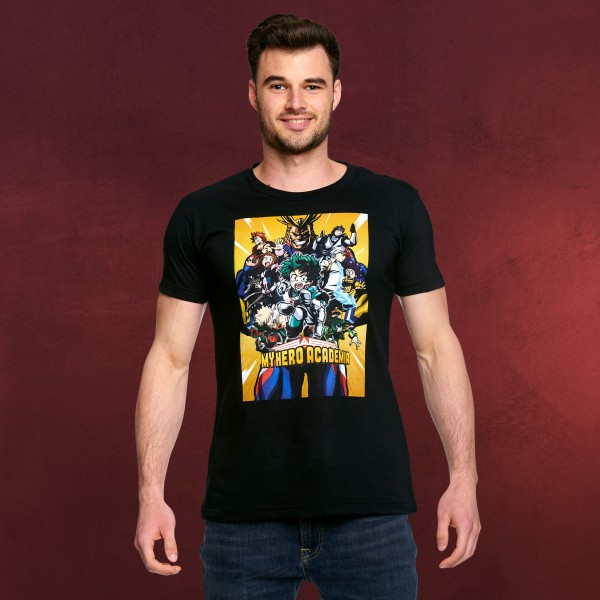 My Hero Academia - Poster T-Shirt schwarz