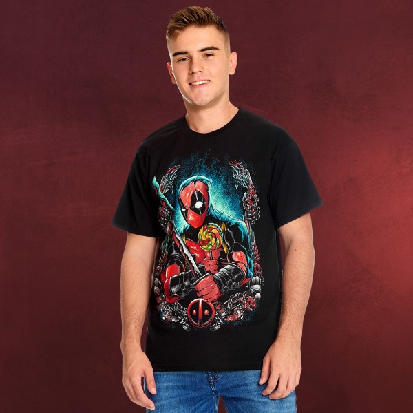 Deadpool - Lollipop T-Shirt schwarz