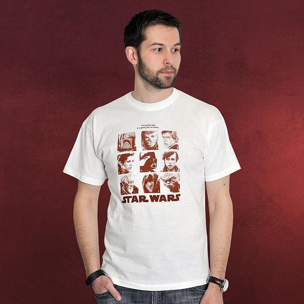 Star Wars - Galerie Portraits T-Shirt weiß