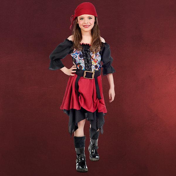 Feurige Piratin - Kostüm Mädchen