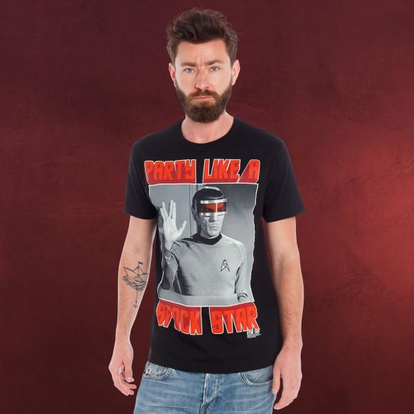Star Trek - Spock Star T-Shirt schwarz