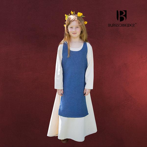 Mittelalter Kinder Überkleid Ylva blau