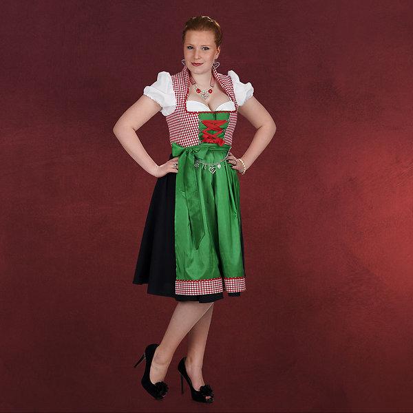 Dirndl Irma - Kostüm Damen rot grün
