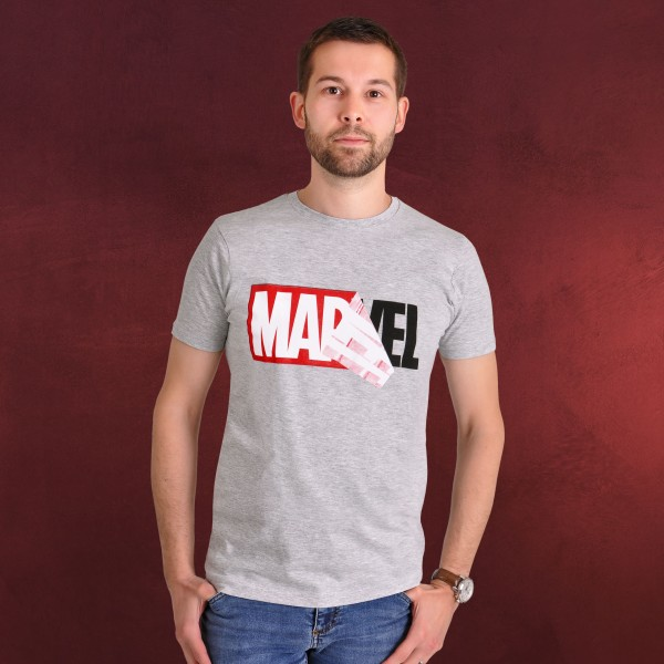Marvel - Logo Reveal T-Shirt grau