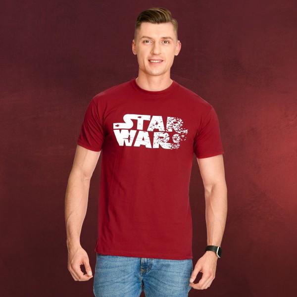 Star Wars - Crushed Logo T-Shirt rot