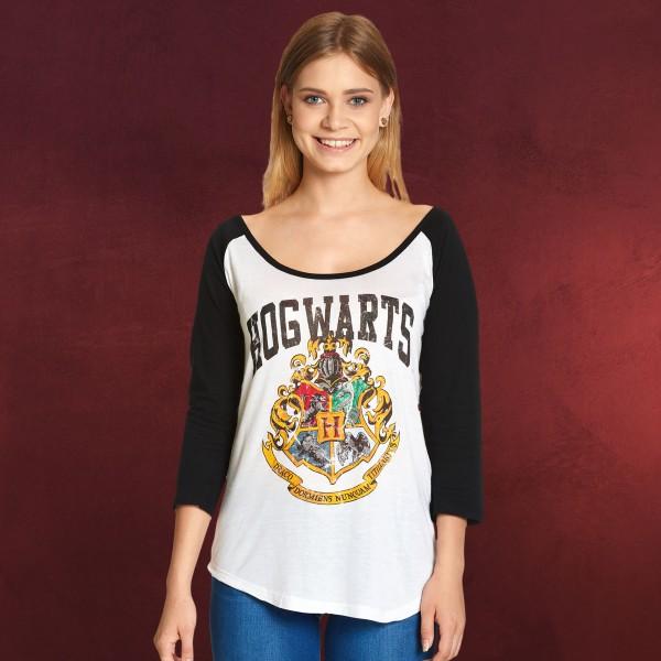 Harry Potter - Hogwarts Wappen Longsleeve Damen