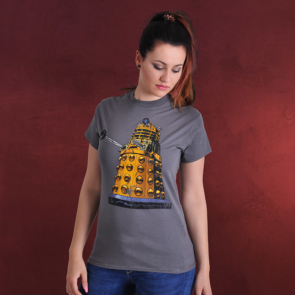 Doctor Who - Comic Dalek T-Shirt grau