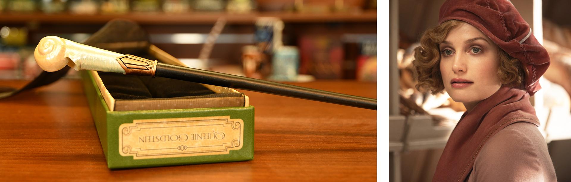 Harry Potter, Phantastische Tierwesen und wo sie zu finden sind Queenie Goldstein Zauberstab Portrait Ollivander-Edition