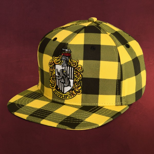 Harry Potter - Hufflepuff Wappen Karo Snapback Cap