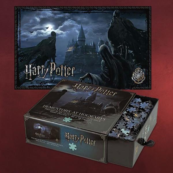 Harry Potter - Dementoren über Hogwarts Premium Puzzle