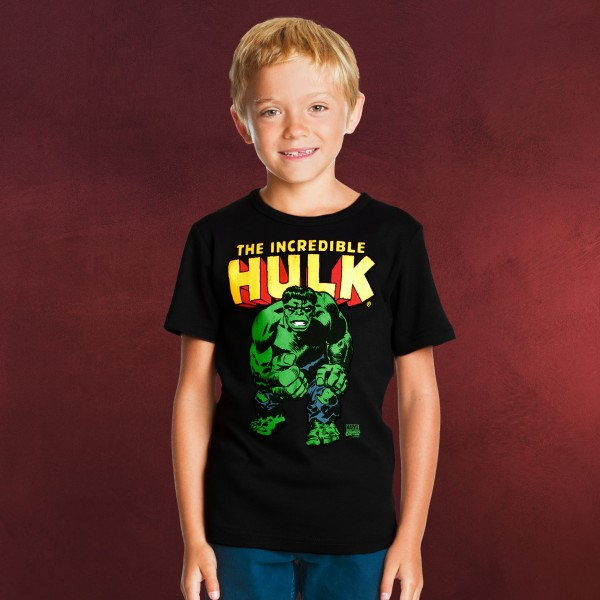 The Incredible Hulk Kinder T-Shirt schwarz