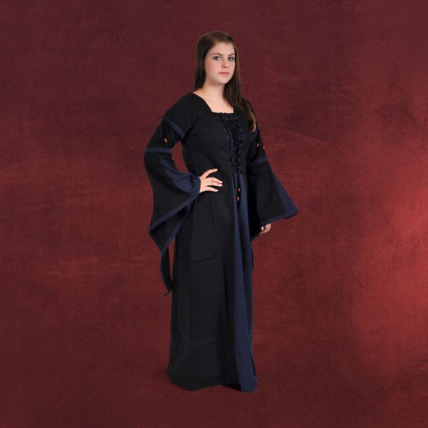 Elisa - Mittelalterkleid schwarz-blau