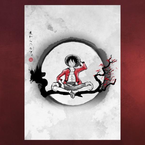 Strohhutpirat RuffyMetall Poster für One Piece Fans