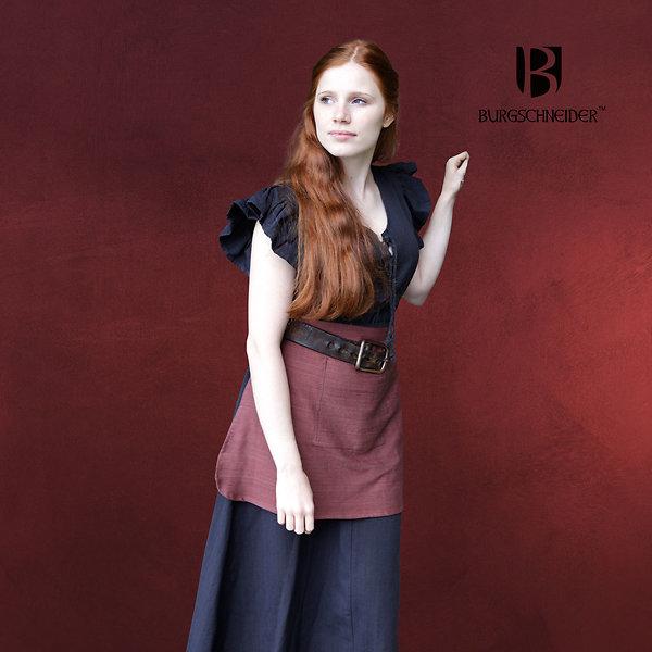 Mittelalter Kleid Agga mit Schürze schwarz