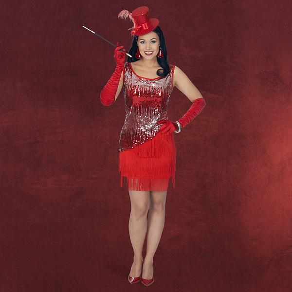 Charleston Kleid Judy Kostüm Damen